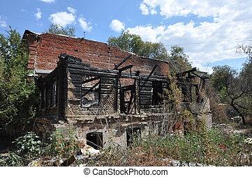 Fire ruins abandoned