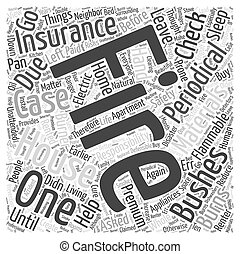 Fire Safety and Insurance Word Cloud Concept