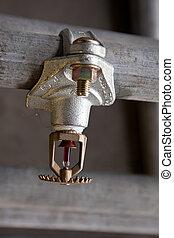 Fire safety - Sprinkler head mount on pipe