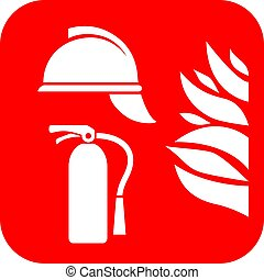 Fire safety vector icon - Fire safety abstract vector icon