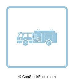 Fire service truck icon