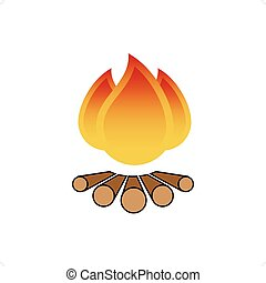 Fire Sign - Cartoon style fire sign vector illustration...