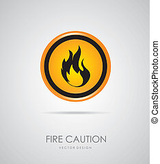 fire signal over gray background vector illustration