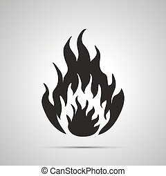 Fire simple black icon