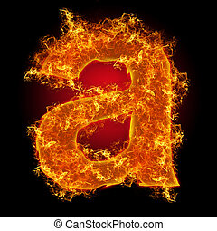 "Fire small letter ""a"""