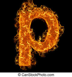 Fire small letter P