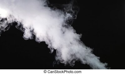 Fire Smoke from Bottom Up Black Background Use the composite mode Screen for transparency 4k