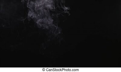 Fire Smoke from Bottom Up Black Background Use the composite...
