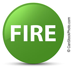 Fire soft green round button