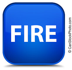 Fire special blue square button
