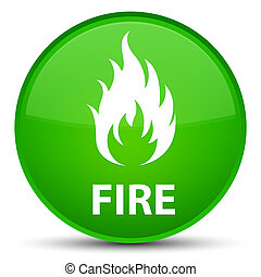 Fire special green round button