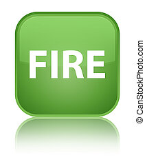 Fire special soft green square button