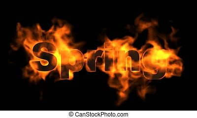 fire spring word.