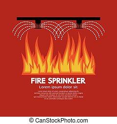 Fire Sprinkler Life Safety Vector. - Fire Sprinkler Life...