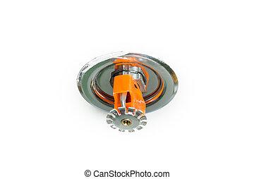 Fire sprinkler - Close up image of fire sprinkler on white....