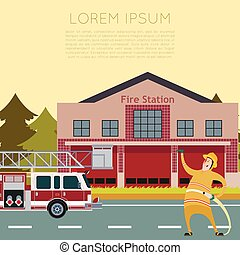 Fire Station Banner2 - Vector image of the Fire Station...