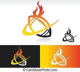 Fire Swoosh Football Icon