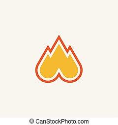 fire symbol logo icon vector illustration