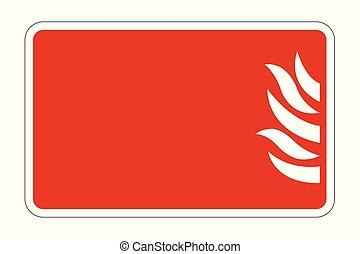 Fire Symbol Sign board on white background, vector illustration