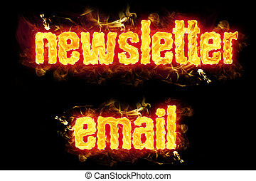 Fire Text Newsletter Email