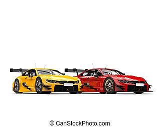 Fire themed super race cars
