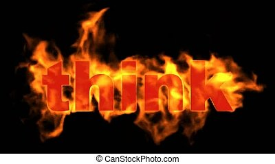 fire think word.