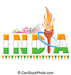 Fire torch in India background