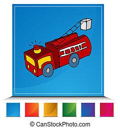 Fire Truck Button Set