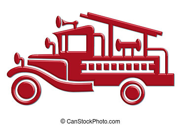 fire truck car icon