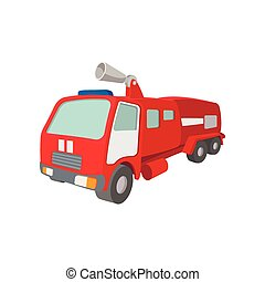 Fire truck cartoon icon