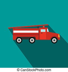Fire truck flat icon