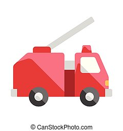 Fire truck flat illustration