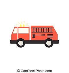 fire truck flat style icon