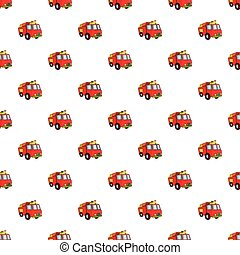 Fire truck pattern, cartoon style