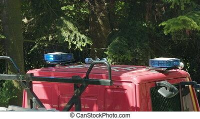 Fire Truck Prepared to Rescue