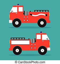 Fire truck red engine car