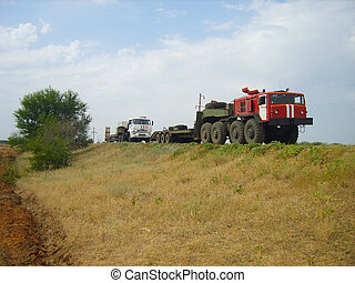 fire truck, tractor