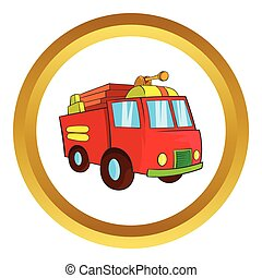 Fire truck vector icon