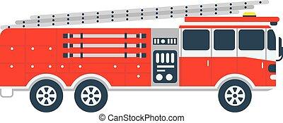 Fire truck vector illustration.