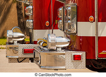 Fire Trucks Close-up