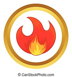 Fire vector icon