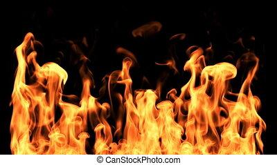 Fire With Swirls