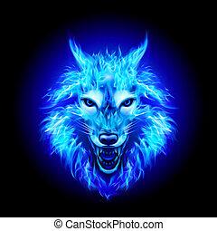 Fire Wolf Head