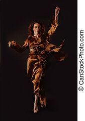 Fire Woman on a black background