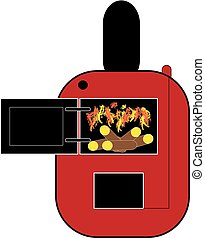 Fire wood boiler on white background