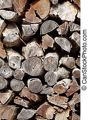Pile of fire woods, texture background