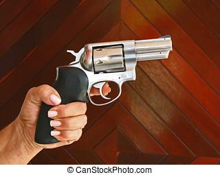 Firearm In Hand - Firearm In Women Hand