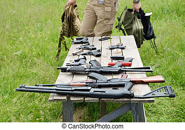 Firearm on the table - Rifles, pistols and other portable...