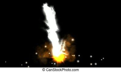 fireball, éclair