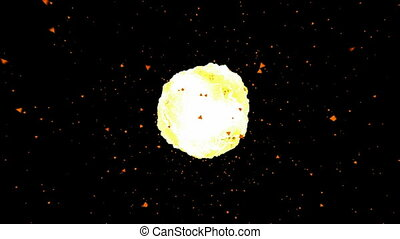 Fireball explosion animation.